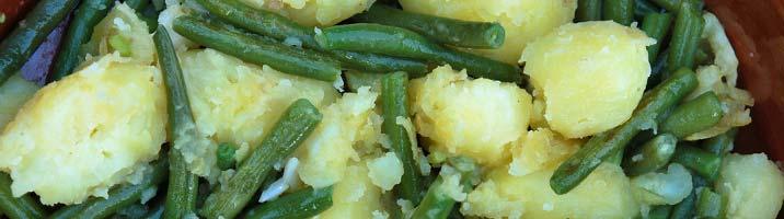 Contorno di patate e fagiolini