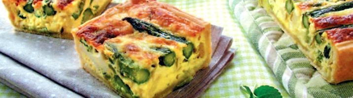 Quiche agli asparagi & chèvre
